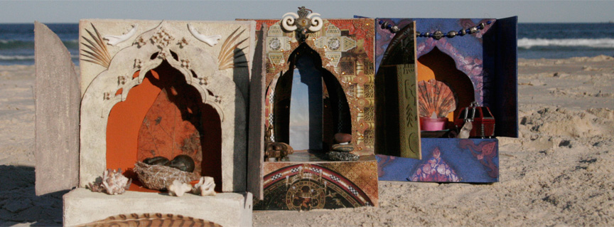 Personal Shrines on the beach